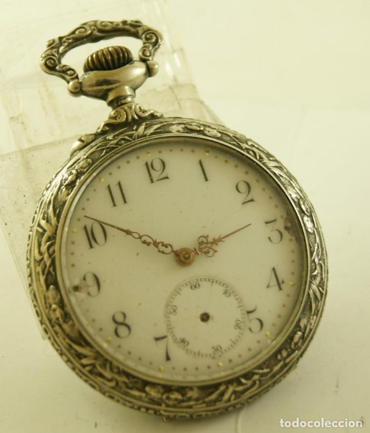 Relojes de bolsillo: RELOJ BOLSILLO CAJA LABRADA PRECIOSA LOUIS BOLSON 52.83MM - Foto 9 - 160733150