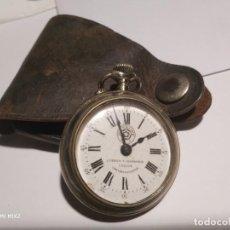 Relojes de bolsillo: RELOJ CUERVO Y SOBRINOS,ROSKOPF HABANA CON FUNDA DE CUERO ORIGINAL. Lote 160891722