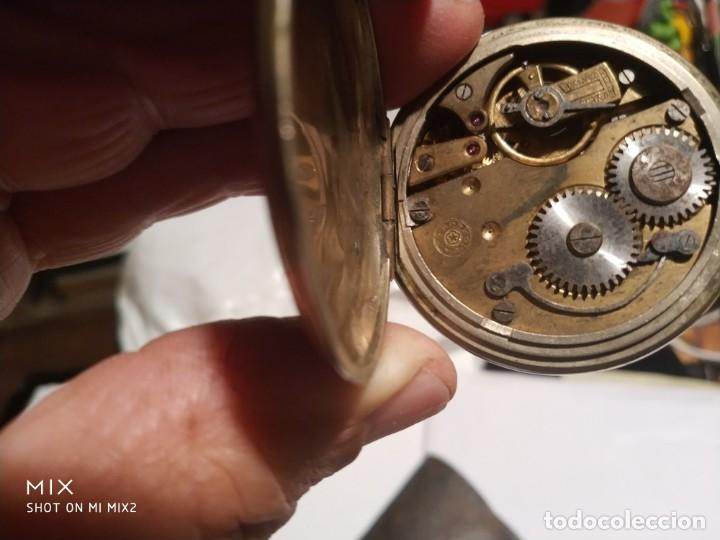 Relojes de bolsillo: Reloj Cuervo y Sobrinos,Roskopf Habana con funda de cuero original - Foto 4 - 160891722
