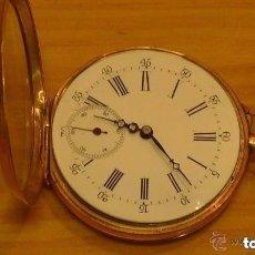 Relojes de bolsillo: MAGNIFICO RELOJ DE BOLSILLO ANCRE SPIRAL BREGUET EN ORO DE 750MM.. Lote 160941962