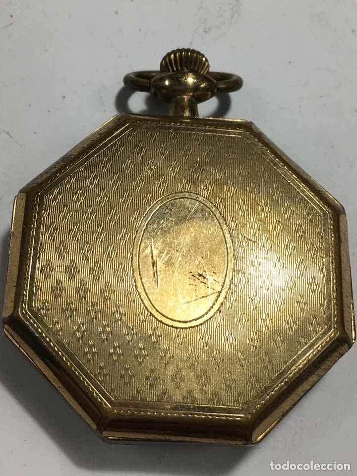 Relojes de bolsillo: Bonito reloj chapado examínale, ver fotos - Foto 2 - 161265262