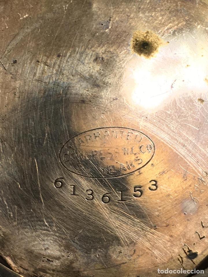 Relojes de bolsillo: Bonito reloj chapado examínale, ver fotos - Foto 5 - 161265262