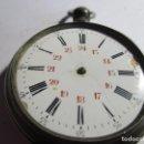 Relojes de bolsillo: RELOJ DE PLATA TRES TALAS REPARAR NO FUNCIONA . Lote 161268878