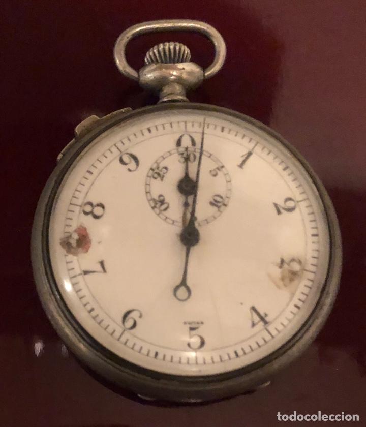 Relojes de bolsillo: Reloj de bolsillo. Antiguo cronometro Suizo - Foto 2 - 161316016