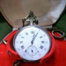 Relojes de bolsillo: RELOJ DE BOLSILLO,EN CAJA DE PLATA. Lote 161641390