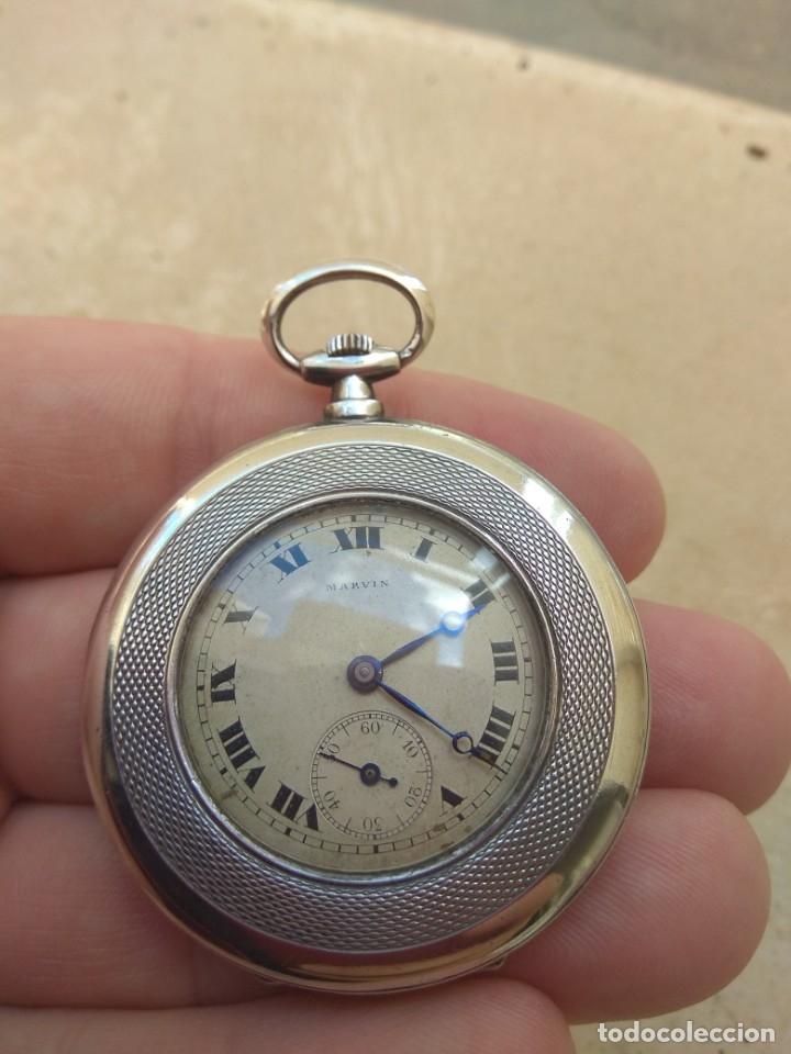 Relojes de bolsillo: Reloj de Bolsillo Marvin - Plata - Leer Descripción - - Foto 3 - 161294261