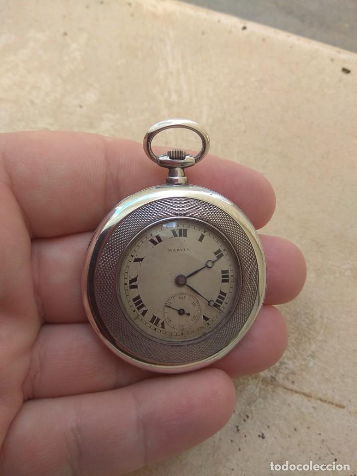 Relojes de bolsillo: Reloj de Bolsillo Marvin - Plata - Leer Descripción - - Foto 4 - 161294261