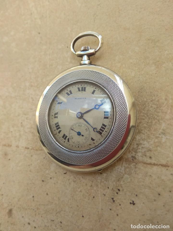Relojes de bolsillo: Reloj de Bolsillo Marvin - Plata - Leer Descripción - - Foto 6 - 161294261