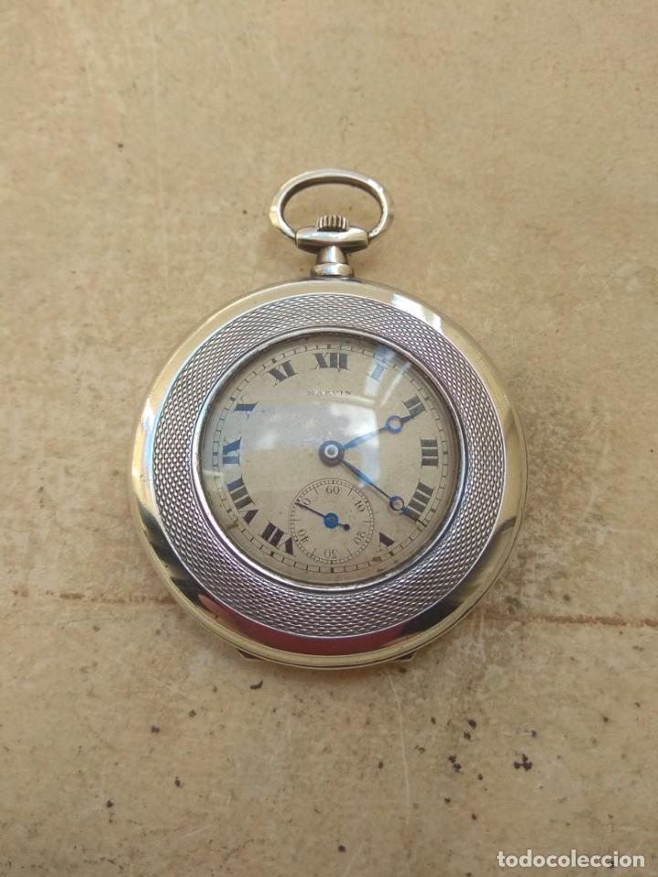 Relojes de bolsillo: Reloj de Bolsillo Marvin - Plata - Leer Descripción - - Foto 5 - 161294261