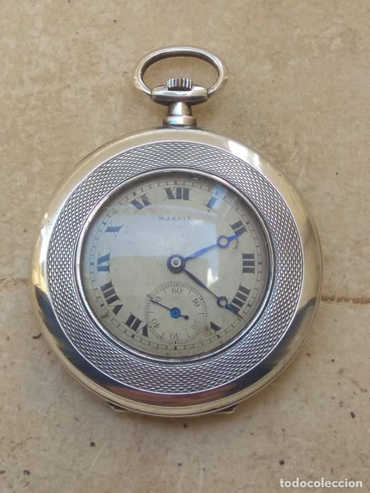 Relojes de bolsillo: Reloj de Bolsillo Marvin - Plata - Leer Descripción - - Foto 21 - 161294261