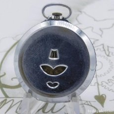 Relojes de bolsillo: MUY RARO-RELOJ DE BOLSILLO DIGITAL-CIRCA 1940-2 TAPAS-FUNCIONANDO. Lote 161835090