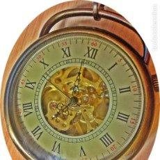Relojes de bolsillo: RELOJ BOLSILLO CAJA COBRE MECANICO.. Lote 288653533