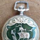 Relojes de bolsillo: ANTIGUO RELOJ DE BOLSILLO RUSO MARCA MOLNIJA AÑOS 60 18 RUBIES CON GALEON DE CRISTOBAL COLON. Lote 162031374
