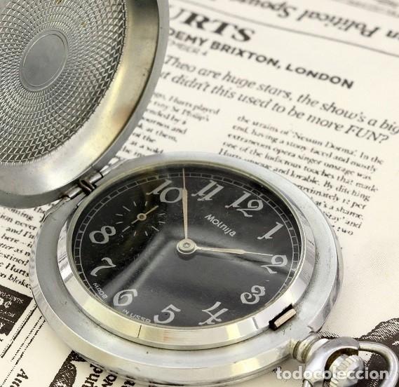 Relojes de bolsillo: RELOJ DE BOLSILLO RUSO MOLNIJA EDICION ESPECIAL USSR LA GRAN GUERRA 1941-1945 SEGUNDA GUERRA MUNDIAL - Foto 2 - 162052390