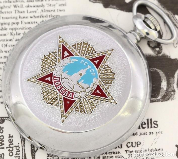 RELOJ DE BOLSILLO RUSO MOLNIJA EDICION ESPECIAL USSR LA GRAN GUERRA 1941-1945 SEGUNDA GUERRA MUNDIAL (Relojes - Bolsillo Carga Manual)