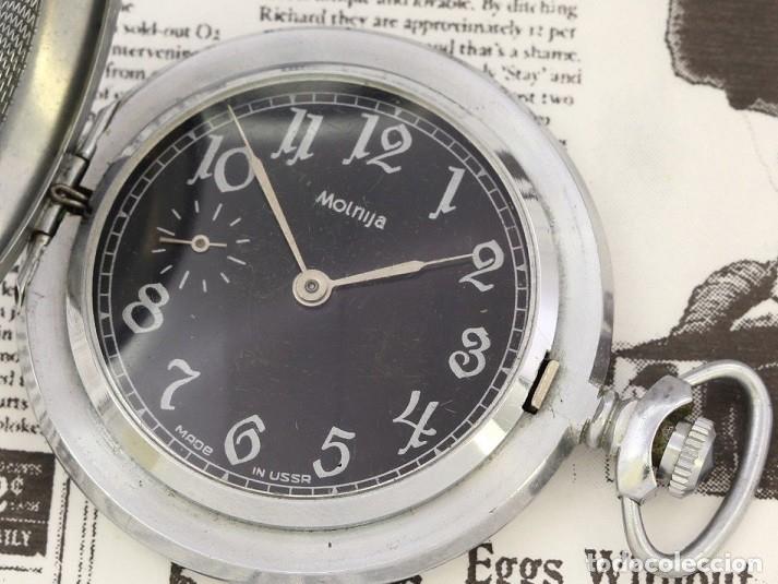 Relojes de bolsillo: RELOJ DE BOLSILLO RUSO MOLNIJA EDICION ESPECIAL USSR LA GRAN GUERRA 1941-1945 SEGUNDA GUERRA MUNDIAL - Foto 3 - 162052390