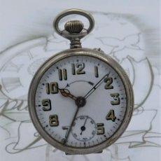 Relojes de bolsillo: RELOJ BOLSILLO CON ALARMA THIEL-CON BISEL GIRATORIO-CIRCA PRIMER TERCIO SIGLO XX-FUNCIONANDO. Lote 162131566