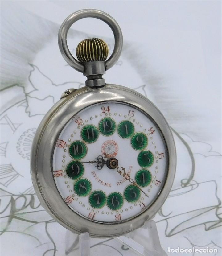 Relojes de bolsillo: FANTÁSTICO Y GRAN RELOJ DE BOLSILLO MESSAGGERO-ROSKOPF-CIRCA 1920-SUIZA-FUNCIONANDO - Foto 5 - 162188618