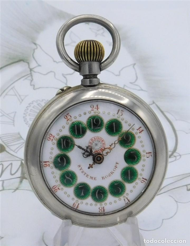 Relojes de bolsillo: FANTÁSTICO Y GRAN RELOJ DE BOLSILLO MESSAGGERO-ROSKOPF-CIRCA 1920-SUIZA-FUNCIONANDO - Foto 9 - 162188618