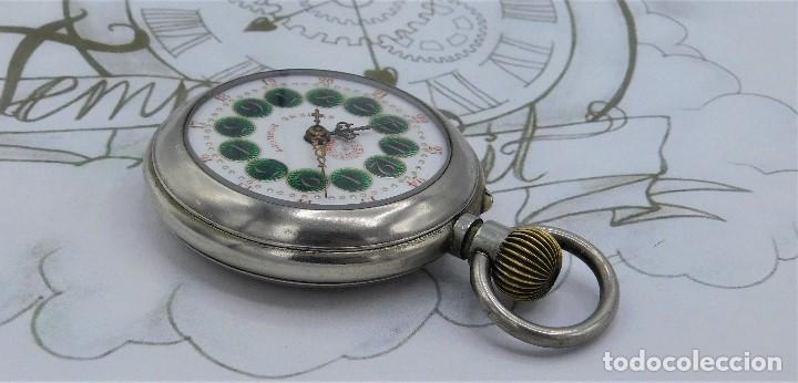 Relojes de bolsillo: FANTÁSTICO Y GRAN RELOJ DE BOLSILLO MESSAGGERO-ROSKOPF-CIRCA 1920-SUIZA-FUNCIONANDO - Foto 10 - 162188618