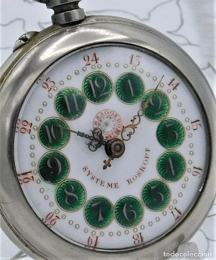 Relojes de bolsillo: FANTÁSTICO Y GRAN RELOJ DE BOLSILLO MESSAGGERO-ROSKOPF-CIRCA 1920-SUIZA-FUNCIONANDO - Foto 17 - 162188618