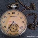 Relojes de bolsillo: ANTIGUO RELOJ DE BOLSILLO RUSO DE LA MARCA MOLNIJA CON UN GALEON EN RELIEVE AÑOS 60 18 RUBIES. Lote 162246018