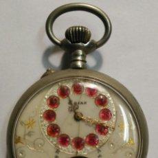 Relojes de bolsillo: PRECIOSO RELOJ DE BOLSILLO - HEBDOMAS 8 DÍAS CUERDA - FUNCIONA. DIÁMETRO 45 - 65 MM HASTA LA ARGOLLA. Lote 162348574