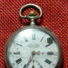 Relojes de bolsillo: LEPINE BOLSILLO MARCA ZACCHA - PLATA CON CONTRASTE - PRINCIPIOS SIGLO XIX - ESFERA PORCELANA - 45 MM. Lote 162380150