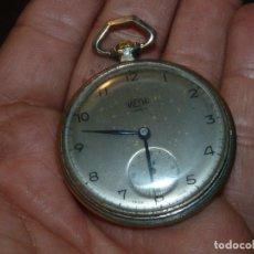 Relojes de bolsillo: ELEGANTE RELOJ MEDA DE BOLSILLO MEDANA ORIGINAL AÑOS 40 CALIBRE MST 365 COLECCIÓN SWISS MADE. Lote 162422278