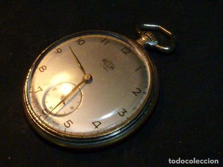 Relojes de bolsillo: Elegante reloj MEDA de bolsillo MEDANA original años 40 calibre MST 365 colección swiss made - Foto 3 - 162422278