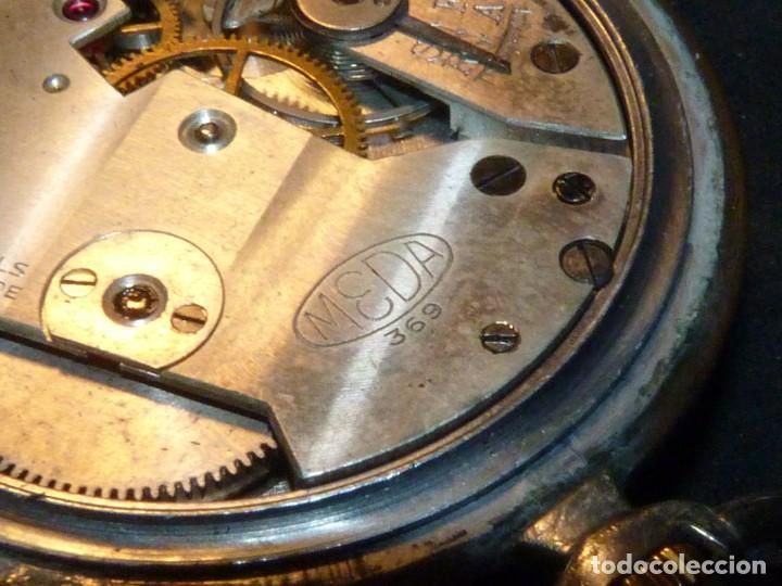 Relojes de bolsillo: Elegante reloj MEDA de bolsillo MEDANA original años 40 calibre MST 365 colección swiss made - Foto 7 - 162422278