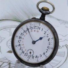 Relojes de bolsillo: MUY RARO-RELOJ DE BOLSILLO 24 HORAS-REMONTOIR-CIRCA 1900-FUNCIONANDO. Lote 162944170