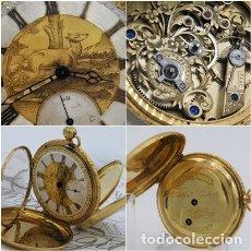 Relojes de bolsillo: ALTA COLECCIÓN!!-EXCEPCIONAL RELOJ DE BOLSILLO FRENCH-DE ORO 18K-CIRCA MITAD SIGLO XIX-FUNCIONANDO. Lote 162968838