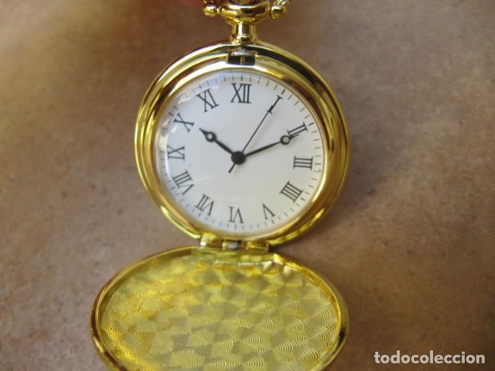 Relojes de bolsillo: RELOJ DE BOLSILLO CON MAQUINARIA DE ALTA CALIDAD CON SISTEMA DE RUEDA - Foto 4 - 180419090