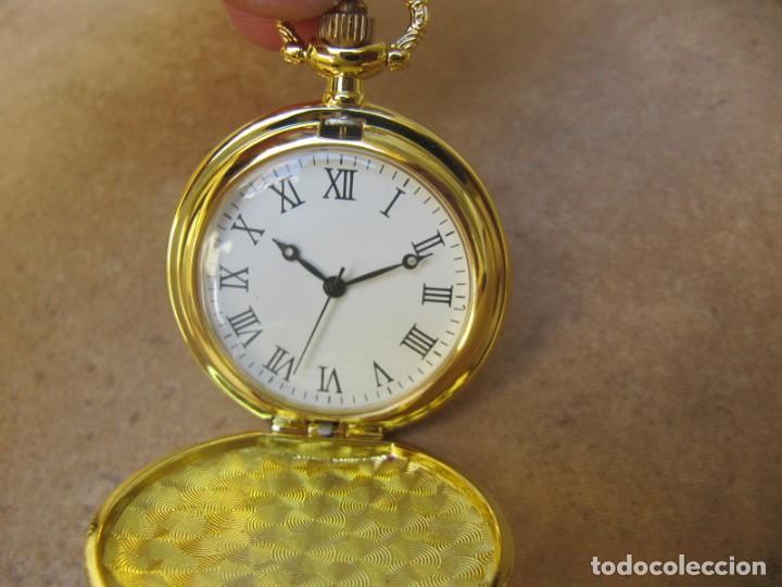 Relojes de bolsillo: RELOJ DE BOLSILLO CON MAQUINARIA DE ALTA CALIDAD CON SISTEMA DE RUEDA - Foto 7 - 180419090
