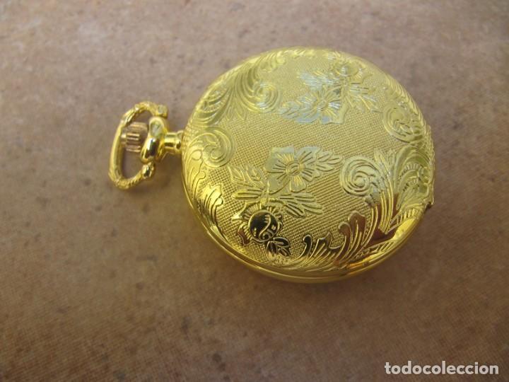 Relojes de bolsillo: RELOJ DE BOLSILLO CON MAQUINARIA DE ALTA CALIDAD CON SISTEMA DE RUEDA - Foto 10 - 180419090