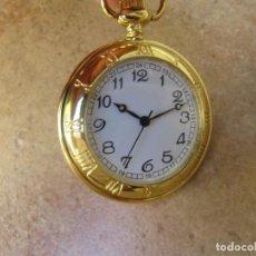 Relojes de bolsillo: RELOJ DE BOLSILLO CON MAQUINARIA DE CALIDAD CON SISTEMA DE RUEDA. Lote 163435890
