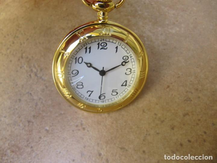 Relojes de bolsillo: RELOJ DE BOLSILLO CON MAQUINARIA DE CALIDAD CON SISTEMA DE RUEDA - Foto 2 - 163435890