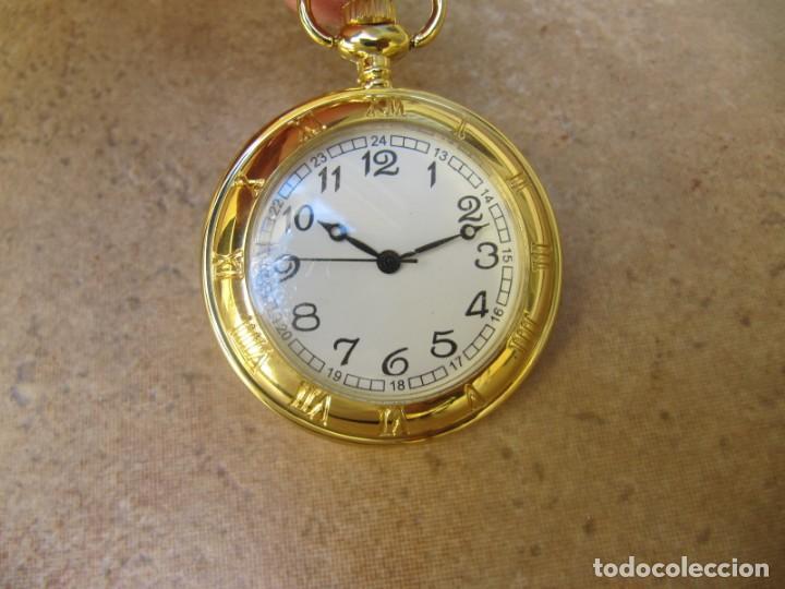 Relojes de bolsillo: RELOJ DE BOLSILLO CON MAQUINARIA DE CALIDAD CON SISTEMA DE RUEDA - Foto 3 - 163435890