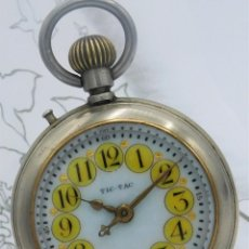 Relojes de bolsillo: IMPRESIONANTE Y GRAN RELOJ DE BOLSILLO TIC TAC ROSKPOF-CIRCA FINAL SIGLO XIX-FUNCIONANDO. Lote 163502510