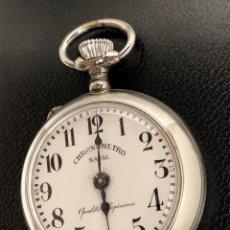 Relojes de bolsillo: CHRONOMETRO NAVAL. RELOJ DE BOLSILLO DE TIPO ROSKOPF. FUNCIONA.. Lote 163713110