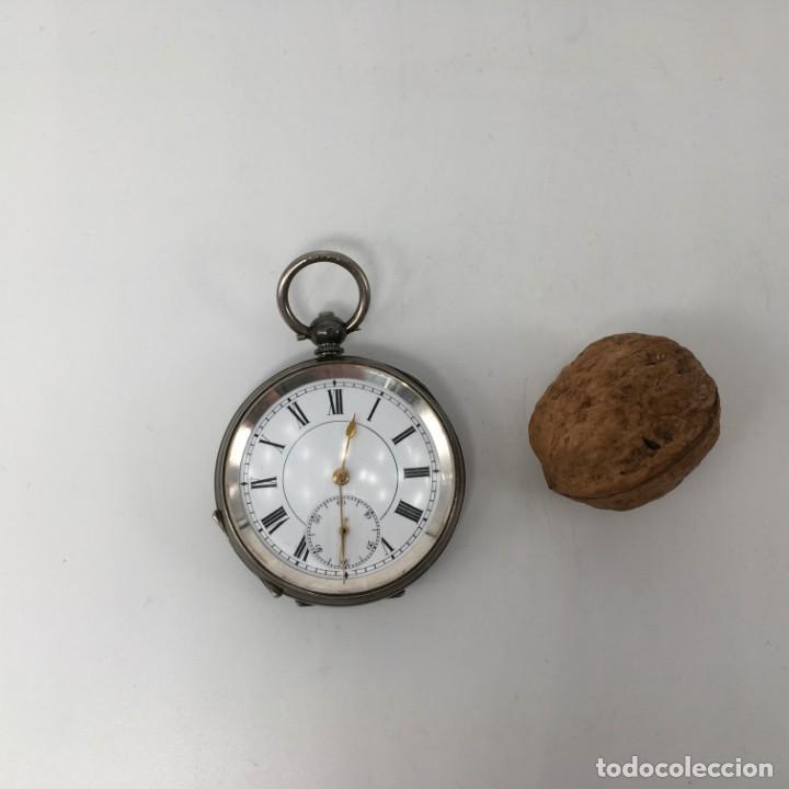 Relojes de bolsillo: Reloj de bolsillo en plata de ley - Foto 2 - 163718762
