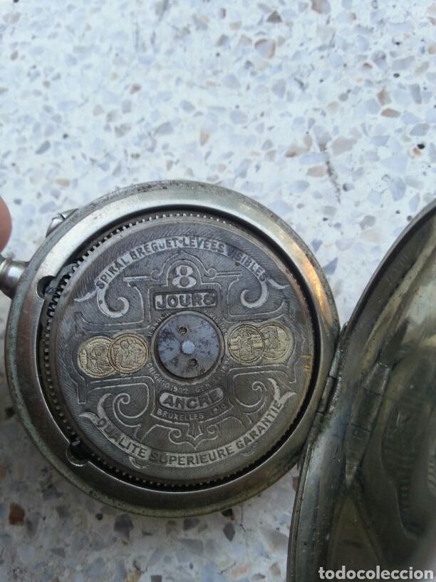 Relojes de bolsillo: RELOJ DE BOLSILLO HEBDOMAS 8 DIAS CUERDA - Foto 3 - 163874490