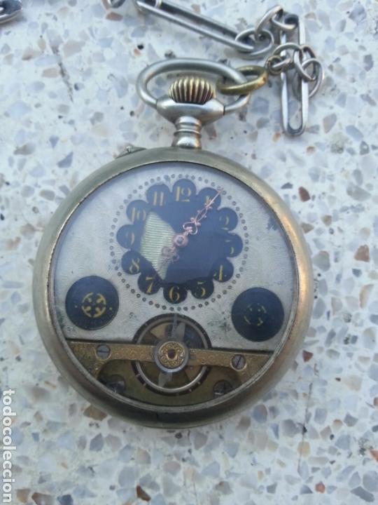 RELOJ DE BOLSILLO HEBDOMAS 8 DIAS CUERDA (Relojes - Bolsillo Carga Manual)