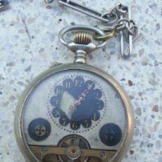 Relojes de bolsillo: RELOJ DE BOLSILLO HEBDOMAS 8 DIAS CUERDA. Lote 163874490