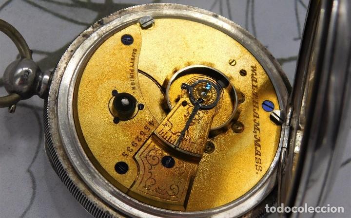 Relojes de bolsillo: WALTHAM-RELOJ BOLSILLO-DE PLATA-CIRCA 1890-FUNCIONANDO-3 TAPAS - Foto 21 - 142611454