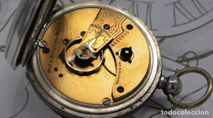 Relojes de bolsillo: WALTHAM-RELOJ BOLSILLO-DE PLATA-CIRCA 1890-FUNCIONANDO-3 TAPAS - Foto 2 - 142611454