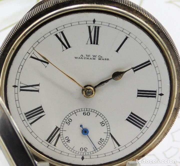 Relojes de bolsillo: WALTHAM-RELOJ BOLSILLO-DE PLATA-CIRCA 1890-FUNCIONANDO-3 TAPAS - Foto 11 - 142611454