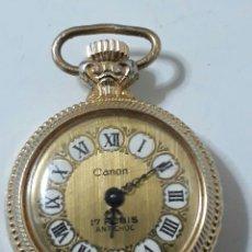 Relojes de bolsillo: RELOJ DE CUERDA,EN EL REVERSO LA CARA DE MOUSULINI.FUNCIONA. Lote 164019589