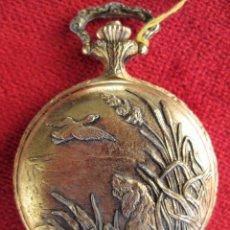 Relojes de bolsillo: RELOJ DE BOLSILLO JOCAWATCH DORADO CON TAPA, DE CUERDA - SIN USO, FUNCIONANDO. Lote 164025794